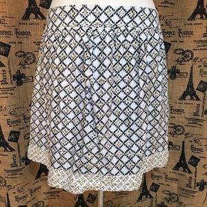Ann Taylor LOFT Navy & White Skirt Size 10